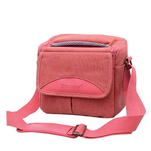 DSLR Fall Abdeckung Kamera Tasche Für Canon EOS M50 M6 M5 80D 800D 200D 77D 7D 6D 70D 760D 750D 700D 500D SX540 SX60 SX50 SX30 T5i T6i,pink