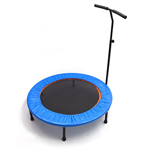 Ocean5 Power Jump 400 Fitness-Trampolin mit Haltegriff und Randabdeckung, 100 cm Ø, belastbar bis 100 kg, Farbe: blau