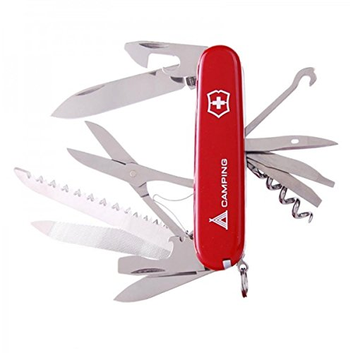 41fmxXWupBL. SS500  - Victorinox Unisex's Ranger Camping Swiss Knife-Red, One Size