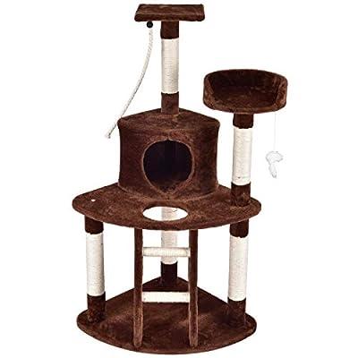 PURLOVE Cat Tree Kitten Tree Toys Cat Scratcher big platform cat Condo houses horsetail decorative 120CM by PURLOVE