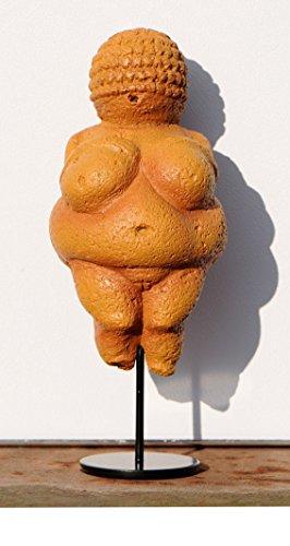 Unbekannt Skulptur, die Venus von Willendorf Museumsreplikat, mit Objektständer