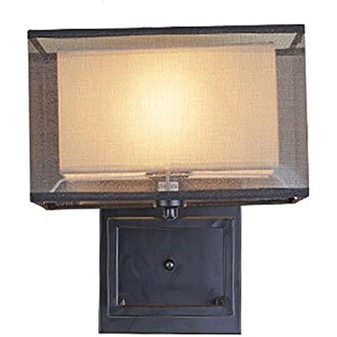 FWEF tela tipo botón led pared lámpara Living sala dormitorio cabecera lámpara caliente pared porche Hotel Hotel pasillo lámpara rango de 10-15 metros cuadrados (25 * 30cm)