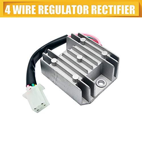 MASO Regulador Universal de 4 Cables rectificador 12 V AC Regulador de Voltaje para Motocicleta, Bicicleta, Quad, Scooter