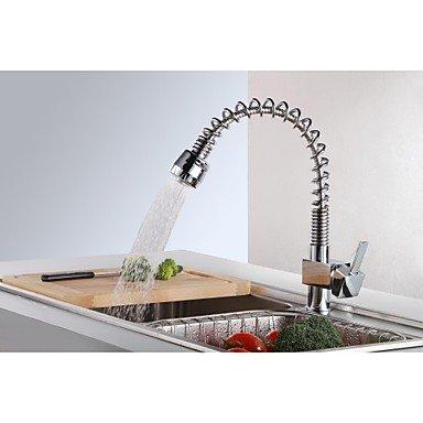 Küchenarmaturen Küchenarmatur Zeitgenössisch Mit ausziehbarer Brause Messing Chrom