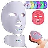 BOWKA LED Photonentherapie Maske kabellos 7 in 1 Schönheit Gesichtsmaske für Gesicht Hals Anti-falten Akne Entfernung Hautverjüngung Poren schrumpfen Ölige Haut verbessern anti-Akne