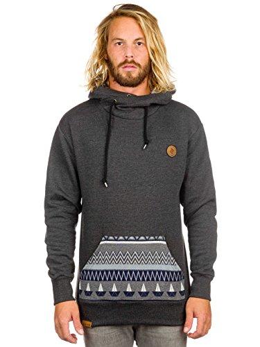 Herren Kapuzensweater Shisha Buex Hoodie Anthracite