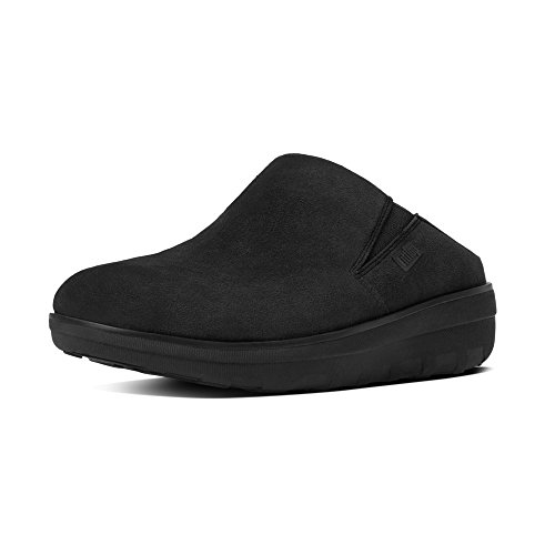 Fitflop Loaff TM Suede Clog, Women's Low Slippers, Nero (Black), 7 UK (41 EU)
