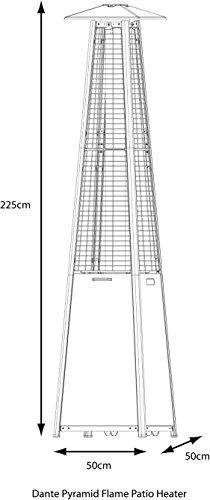 LG Outdoor dan04Dante Pyramid Flame Terrassenstrahler–Grau; - 3