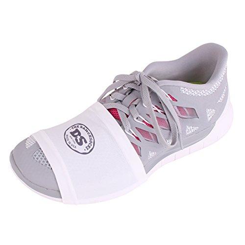 Le dancesocks–Sneaker Chaussettes pour danse sur les sols lisses Blanc - blanc