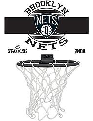 Spalding NBA Miniboard Brooklyn Nets 77-662Z Minicanasta, Multicolor, Talla Única