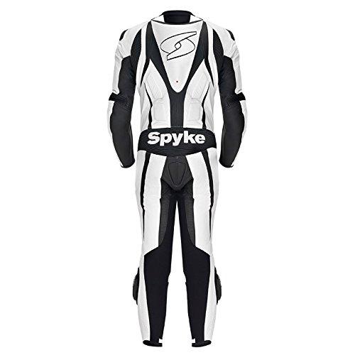 Spyke-Blaster-III-Tute-in-Pelle-Moto-Per-Uomo-Bianco-Nero-EU58