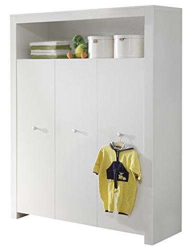 lieferadresse deutschland amazon schweiz trendteam bzo61301 babyzimmer kleiderschrank weiss. Black Bedroom Furniture Sets. Home Design Ideas