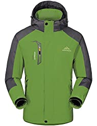 Wasserdichte Regenjacke Herren Softshell Sport Outdoorjacke - GIVBRO 2017 Neues Design Funktions Atmungsaktive Hooded Camping Hiking Jacke