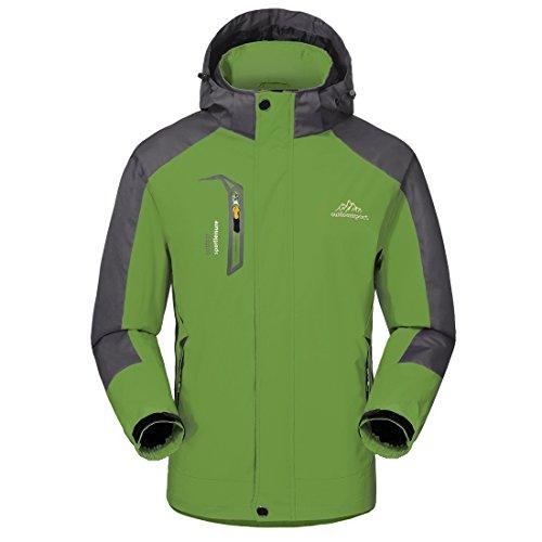 Wasserdichte Regenjacke Herren Softshell Sport Outdoorjacke - GIVBRO 2018 Neues Design Funktions Atmungsaktive Hooded Camping Hiking Jacke