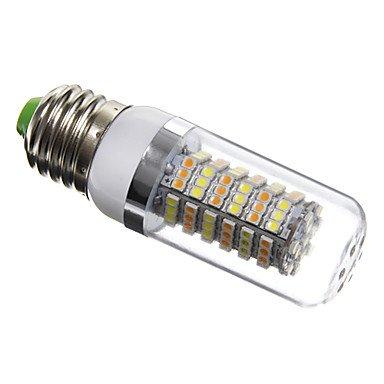 GXS/daiwl E276W 120x 3528SMD 420lm 4100–4600K natürliches weißes Licht LED Corn Leuchtmittel silber Cover (AC 220–240) (4600 Cover)