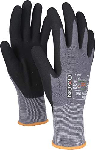 HandschuhMan. OX-ON Flexible Supreme Arbeitshandschuhe Nitril Montagehandschuhe Gr. 6-12 (6 Paar Größe 6)