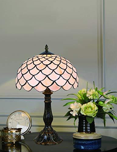 Luz de cabecera de la lámpara de mesa de la lámpara de mesa de la lámpara de mesa de la serie de estilo sencillo europeo de 12 pulgadas con vidrio de color blanco