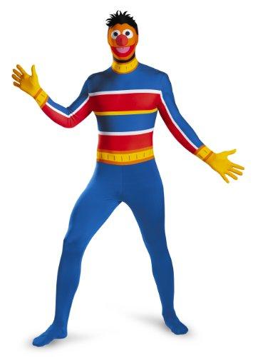 Sesam Kostüm - Disguise Jungen Sesam Street Erwachsene Ernie Skin Suit