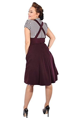 Rockabilly Gingham Retro Petticoat Kleid Hosenträger Karo Swing - 5