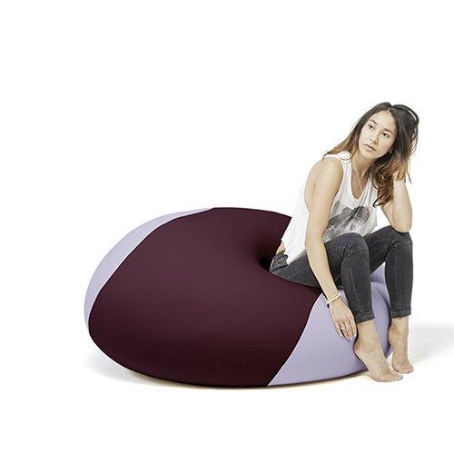 Terapy - OLLIE Relax Indoor Sitzsack - Sitzkissen, 100x100x80cm in aubergine / lila