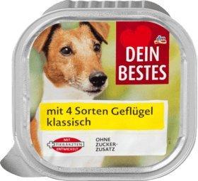Dein Bestes Nassfutter für Hunde mit 4 Sorten Grflügel, 300 g Alleinfuttermittel
