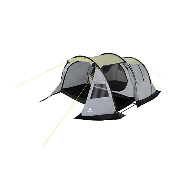 CampFeuer - Tunnel-Tent, 3-Person Camping Tent, Grey, 3,000mm Hydrostatic Head 2