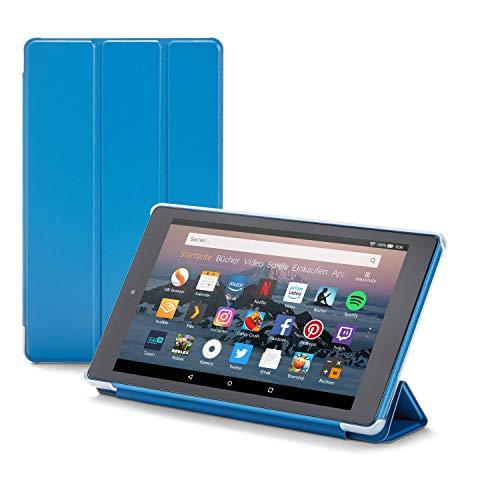 Nupro Hülle für Fire HD 8-Tablet, faltbar und mit Standfunktion, Blau