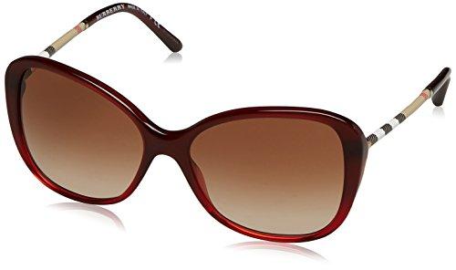 BURBERRY Damen 0Be4235Q 362513 57 Sonnenbrille, Rot (Bordeaux/Brown),