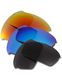 Hkuco Plus Mens Replacement Lenses For Oakley Bottlecap Sunglasses Red/Blue/Black Polarized
