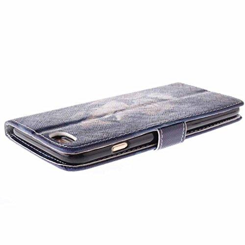 iPhone 6/6S Hülle im Bookstyle, Xf-fly® PU Leder Flip Wallet Case Schutzhülle für Apple iPhone 6/6S Tasche Handytasche mit Magnetverschluss Kartenfach Standfunktion Muster Handyhülle P-1