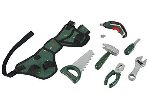 Theo Klein 8313 - Werkzeuggürtel-Set Bosch mit Ixolino II-Akkuschrauber