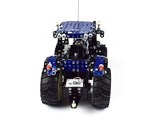 RC Auto kaufen Traktor Bild 3: Tronico 10057 - Metallbaukasten Traktor New Holland T8 mit Fernsteuerung, Profi Serie, Maßstab 1:16, 732-teilig, blau*