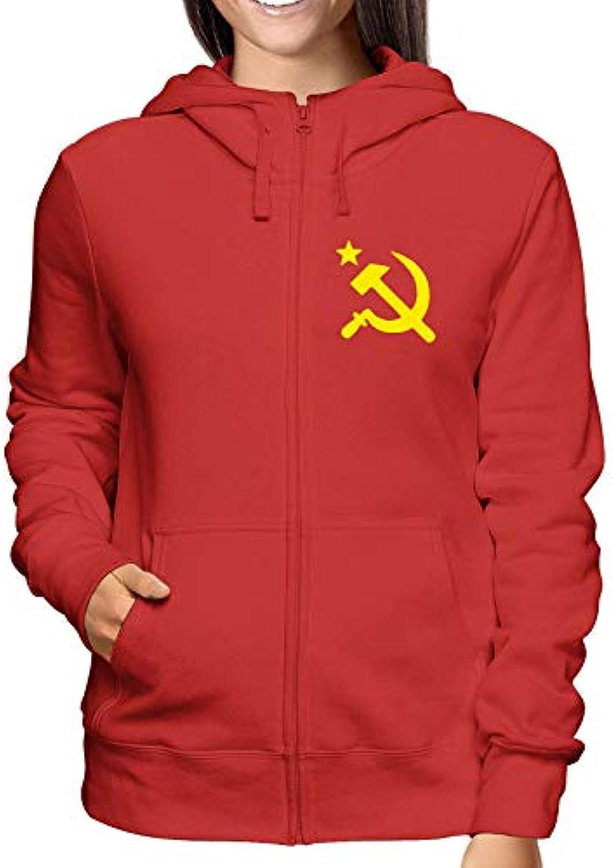 Sweatshirt donna Hoodie Zip rosso Comunismo TCO0053 Comunismo rosso 752f9e a6c3bdb2ed9f