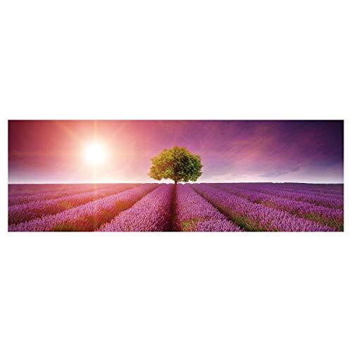 Cuadro Árbol de la Vida provenzal Lila de Lienzo para Dormitorio de 150 x 50 cm France - LOLAhome