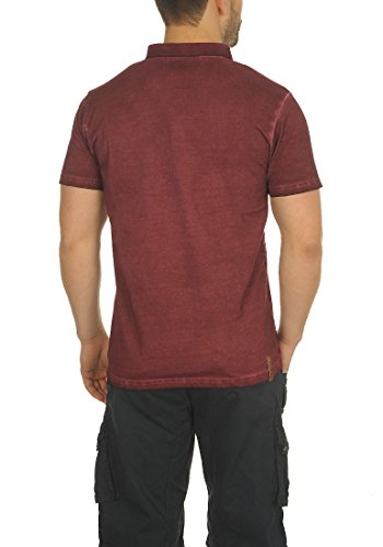 SOLID Termann Herren Poloshirt Shirt Wine Red (0985)