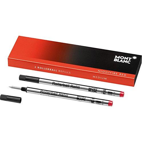 Montblanc Tintenroller Minen Nightfire Red 105162 / Ersatzmine für Roller Ball und Fineliner Größe M / 2 x Montblanc Refill Rollerball M