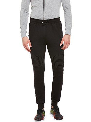 Gritstones Black Regular Fit Track Pant for Men GSTRKPNT1542BLK_S
