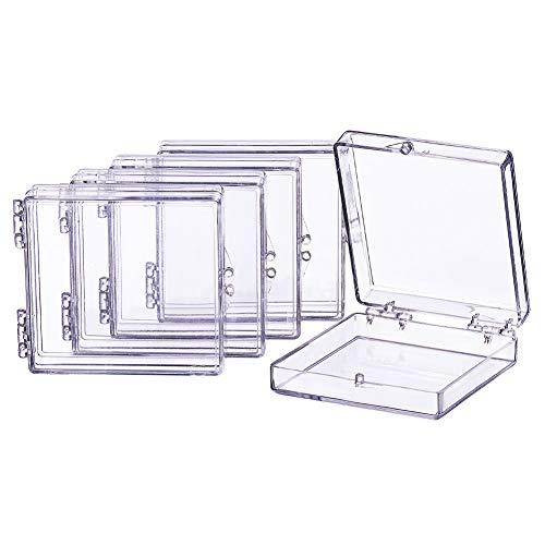 BENECREAT 8 Pack Rechteck hohe Transparenz Kunststoff Bead Aufbewahrungsbehalter Box Fall mit Flip-Up Deckel fur Beauty Supplies, kleine Perle, Jewerrry Findings und andere kleine Gegenstande - 6,3 cm x 5,8 cm x 1,8 cm (2,48 x 2,2 x 0,7 Zoll)