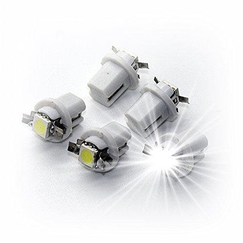 Preisvergleich Produktbild LED-Mafia 5 Stück T5 B8, 3D B8, 4d B8, 5d - Tachobeleuchtung B83d B84d B85d Cockpit Tacho Instrumenten Beleuchtung Tacho weiß Weiss rot blau grün gelb (B85d,  weiß)