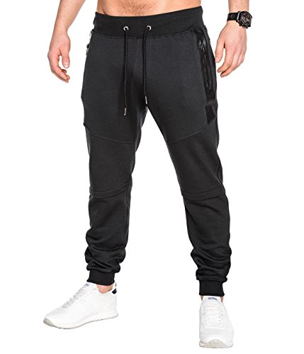 BetterStylz SlvrCatBZ Jogginghose Trainingshose Sportswear Tech Fleece Jogger Hose Sweatpant 3 Farben (S-XXL) (X-Small, Schwarz)