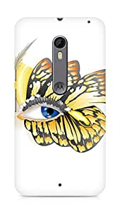 Amez designer printed 3d premium high quality back case cover for Motorola Moto X Style (Butterfly Eyes vector)