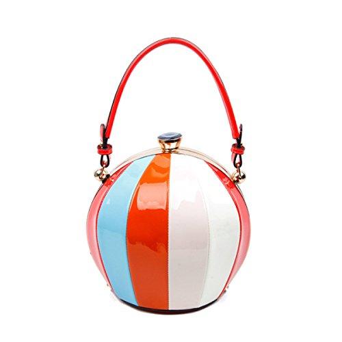 Fabelhaft Schlagen Sie Farben-runde Schulter-Beutel-Art- Red