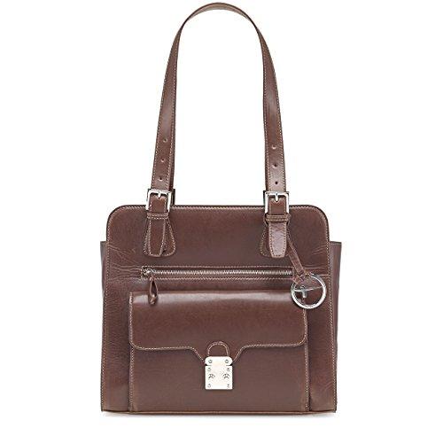 TAMARIS MICAELA Handtasche, Shopper, Metall-Elemente, 4 Farben: schwarz, mocca braun, truffle beige oder burned orange Mocca Braun
