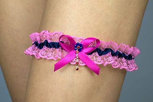 Giarrettiera di pizzo matrimonio sposa biancheria intima regali de nozze addio al nubilato rosa blu