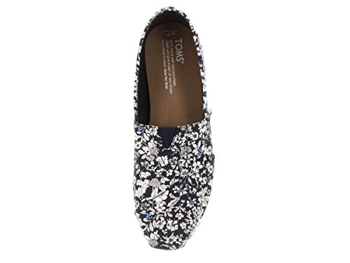 Toms Rope Sole 1019b09r, Espadrilles Donna Navy Floral