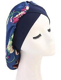 Leisial Chapeau pour Femme Bonnet de Nuit Sommeil Polyester Protéger Les  Cheveux Élastique Plusieurs Couleurs 93b608a7057