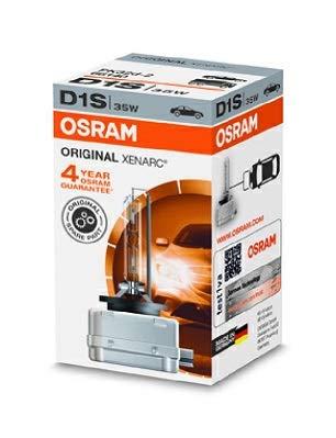 OSRAM 66140 Ampoule xénon XENARC ORIGINAL D1S HID, Lampe à Décharge, Qualité de l'Équipement d'Origine OEM, Boîte pliante, 1 pièce