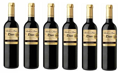Señorío de los Llanos Gran Reserva D.O Valdepeñas. Vino Tinto - 6 Botellas x 750 ml - Total : 4500 ml