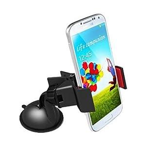 LR Car Mobile Holder Mount Bracket Holder Stand 360 Degree Rotating (Black)