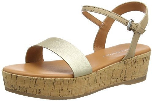 Marc O'Polo - Wedge Sandal, Sandali Donna Oro (Gold (gold/taupe 173))